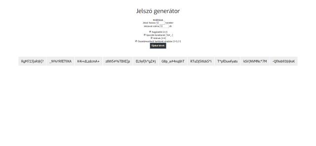 jelszo generator