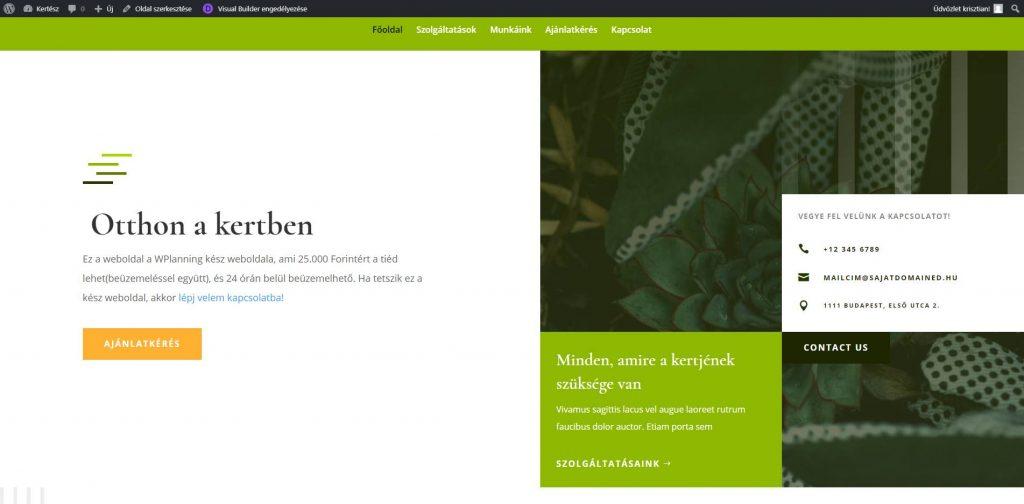 kertész kész weboldal